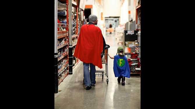 funny-dad-kid-beanie-superhero