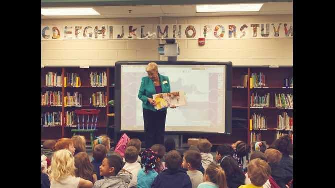 Sandra Deal at Oak Hill Elementary 3-11-15