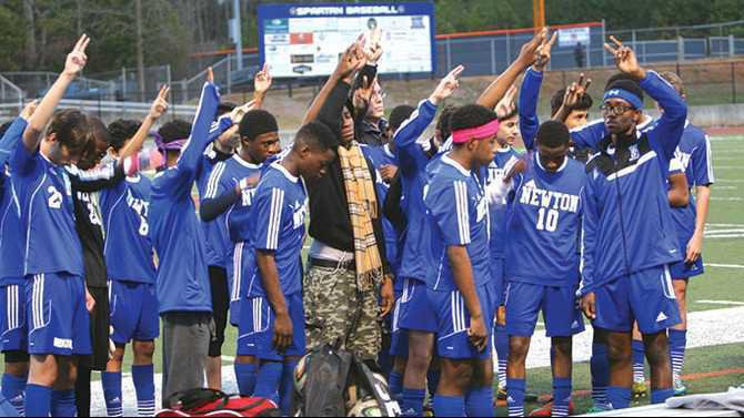 NHS soccer tribute to Carlvon Betts 2s